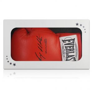 Signed Ricky Hatton boxing glove in gift box