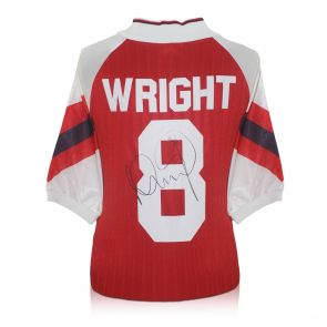 Ian Wright Signed Arsenal Football Shirt In Gift Box