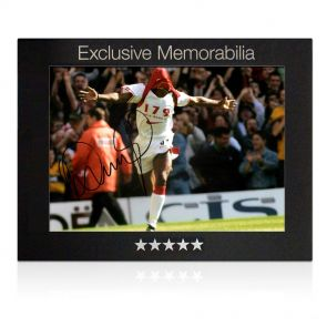 Signed Ian Wright Photo In Gift Box