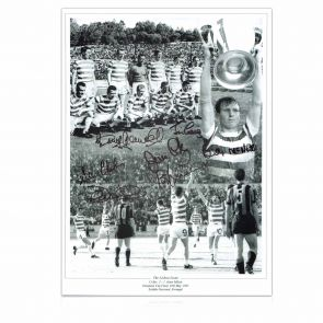Celtic Lisbon Lions Signed Photo: 1967 European Cup Winners. In Gift Box