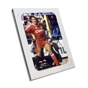 John Barnes Signed Liverpool Photo In Gift Box