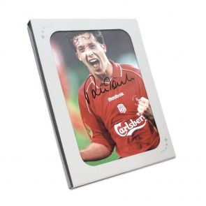 Robbie Fowler signed photo in gift box