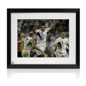 Framed Martin Johnson Signed Photo