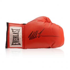 Mike Tyson Signed Red Boxing Glove. In Gift Box