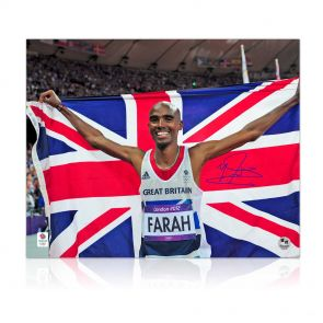 Mo Farah Signed Olympics Photo