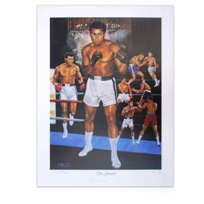 Signed Muhammad Ali Lithograph