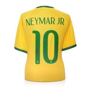 Neymar Jr Signed Brazil Football Shirt In Gift Box