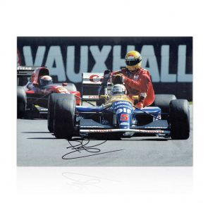 Nigel Mansell Signed Photograph: Taxi For Senna. In Gift Box