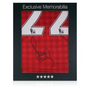 Paul Scholes Signed Man Utd Shirt In Gift Box
