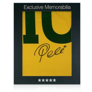 Signed Pele Number 10 Brazil Jersey In Gift Box