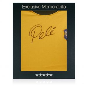 Signed Pele Shirt In Gift Box