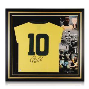 Signed Pele Number 10 Brazil Jersey