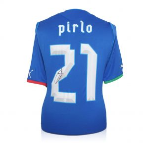 Signed Pirlo Italy Jersey