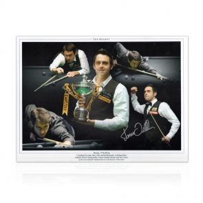 Signed Ronnie O'Sullivan Photo: the Rocket