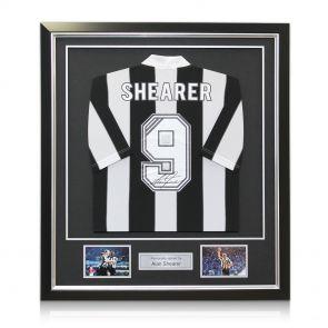 Alan Shearer Back Signed Newcastle 1996 shirt