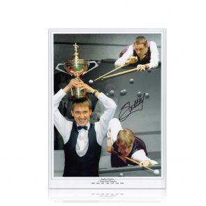 Signed Stephen Hendry Snooker Photo. In Gift Box