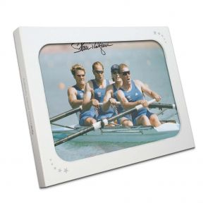 Sir Steve Redgrave Signed Coxless Four Photo In Gift Box