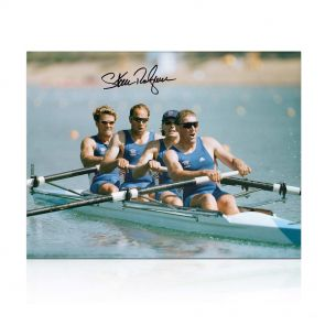 Sir Steve Redgrave Signed Olympics Rowig Photo: The Winning Team. In Gift Box