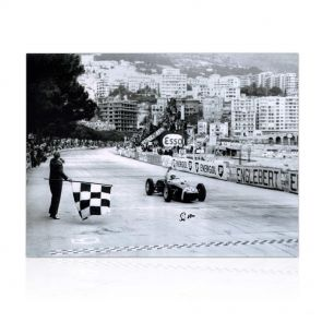 Stirling Moss Signed Formula One Photo: Monaco Grand Prix. In Gift Box
