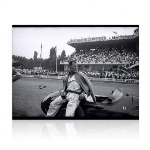 Signed Stirling Moss Photo: In The Pits At Monza