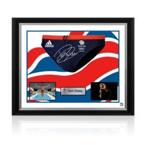 Signed Framed Tom Daley Swimming Trunks