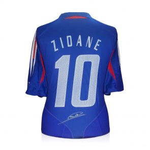 Zinedine Zidane Signed France 2004 Football Shirt. In Gift Box