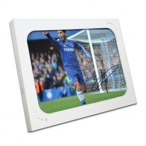 Autographed Eden Hazard Picture In Gift Box