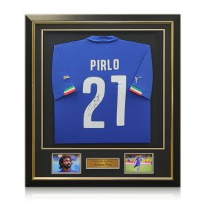 Andrea Pirlo Signed And Framed Italy Shirt