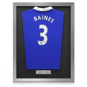 Signed Framed Leighton Baines Shirt