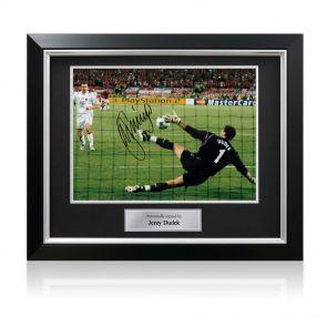 Signed framed Jerzy Dudek Liverpool photo
