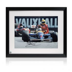 Signed And Framed Nigel Mansell Ayrton Senna Photo