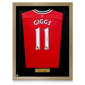 Framed, signed Ryan Giggs jersey
