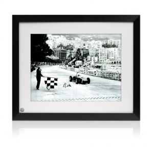 Stirling Moss Signed And Framed Monaco Grand Prix Photo