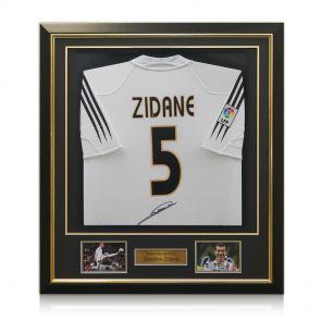 Signed Framed Zidane Real Madrid Shirt