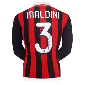 Paolo Maldini Autographed Milan Jersey
