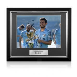 David Silva Signed Manchester City Photo: Premier League Champions. Deluxe Frame