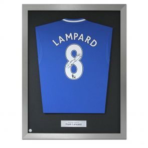 Frank Lampard Signed Framed Chelsea Shirt
