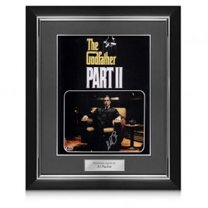 Al Pacino Signed Godfather 2 Film Poster In Deluxe Frame