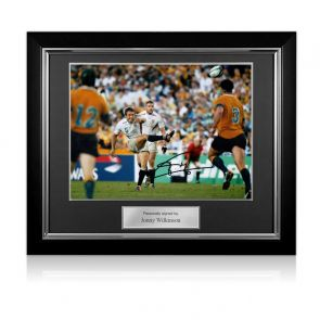 Jonny Wilkinson Signed 2003 Rugby World Cup Photo: Moment Of Glory. Deluxe Framed