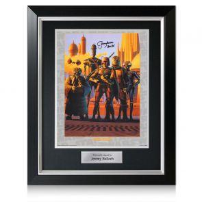 Boba Fett Signed Star Wars Bounty Hunters Poster. Deluxe Frame