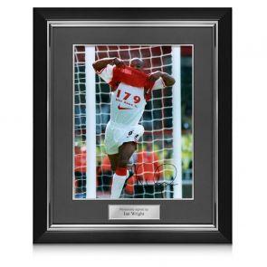 Ian Wright Signed And Framed Arsenal Photo
