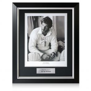 Signed And Framed Ian Botham Print