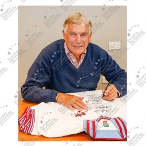 West Ham United Football Shirt Signed By The 1980 FA Cup Winning Squad In Gift Box