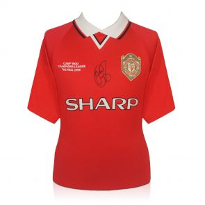 Solskjaer Signed Man Utd Shirt