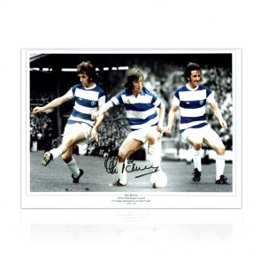 Stan Bowles Signed QPR Photo. In Gift Box