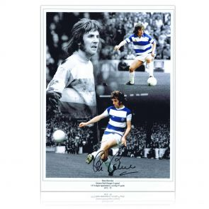 Stan Bowles Signed Queens Park Rangers Photo In Gift Box