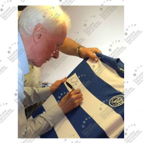 Stan Bowles Signed Queens Park Rangers Football Shirt In Deluxe Black Frame With Silver Inlay