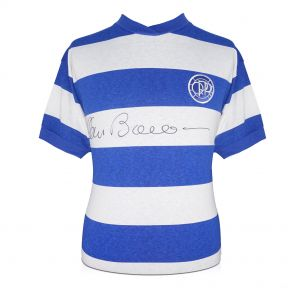 QPR jersey autographed by Stan Bowles