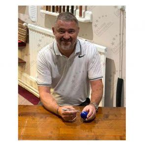 Stephen Hendry Signed Blue Snooker Ball