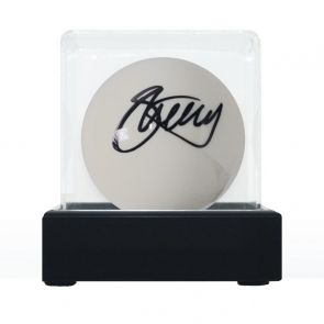 Stephen Hendry Signed White Snooker Ball. In Display Case